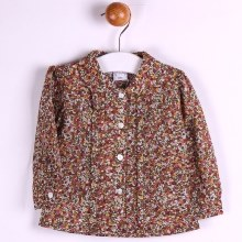 Ditsy Print Collared Shirt
