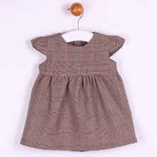 Tweed Style Capped Sleeved Dress