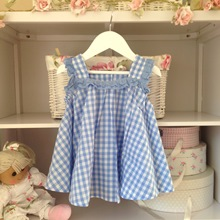 Alice Blue Gingham Babydoll Dress