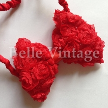 Rose Bow Hairband - Red