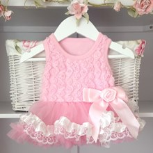 Coconut Ice Lace Baby Belle Tutu Dress