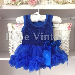 Electric Blue Baby Tutu Dress