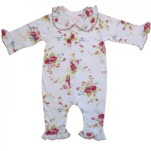 Floral Frill Baby Girl Babygrow Jumpsuit