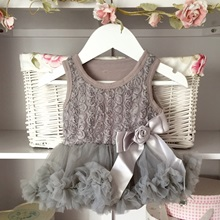 Soft Grey Baby Belle Tutu Dress