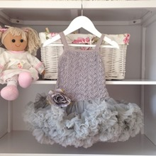 Vintage Grey Belle Tutu Dress