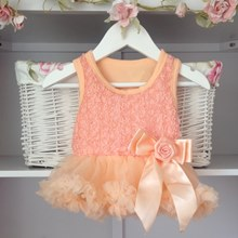Peach Baby Belle Tutu Dress