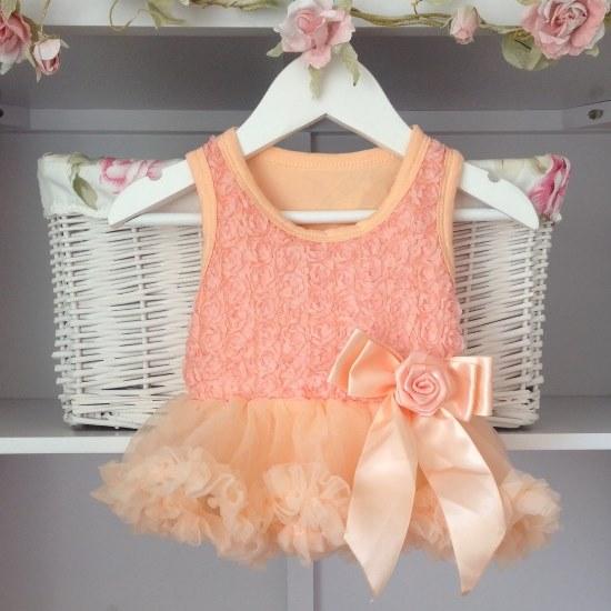 Peach Baby Belle Tutu Dress Belle Vintage
