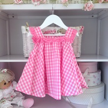 Alice Pink Gingham Babydoll Dress