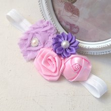 Vintage Flower Cluster Hairband - Pastel Pop