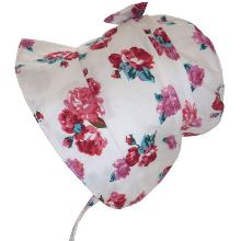 Girls Red Rose Sun Bonnet