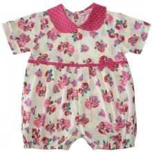 Red Rose Baby Girls Romper Suit