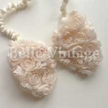 Rose Bow Hairband - Champagne Peach