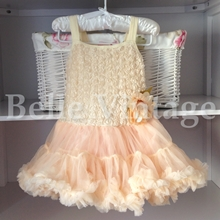 Champagne Peach Belle Tutu Dress
