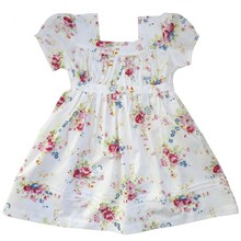 Eve Vintage White Floral Dress